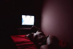 TV (Ivanna Vera) Tags: nude tv woman body rd red desnudo cuerpo self portrait