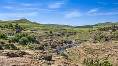 Semonkong landscape (Hans van der Boom) Tags: holiday vacation southafrica lesotho zuidafrika semonkong maseru maletsunyaneriver landscape river broek bridge lso
