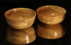 Two larger bowls (Stephen Mildenhall) Tags: woodturning bowl wood lathe woodbowl woodwork