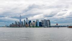 Dark clouds over Downtown Manhattan, New York (patuffel) Tags: gotham city new york manhattan staten island ferry downtown