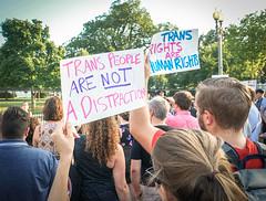 2017.07.26 Protest Trans Military Ban, White House, Washington DC USA 7644