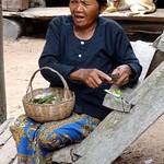 Cambodian life - preparing betel leaves thumbnail