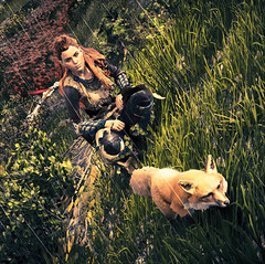 The Girl and the Fox (M.NeightShambala) Tags: horizon zero dawn aloy guerilla games ps4 playstation sony video game jv killzone