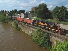 W&LE 6354 (Trains & Trails) Tags: wle 6354 emd standardcab sd402 engine locomotive diesel transportation connellsville pennsylvania csx wheelingandlakeerierailway water youghioghenyriver