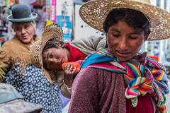 Andean woman (Aquarium Photo&Studio) Tags: bolivia chola canon 6d sigma andean lapaz indian baby look traditional colors colorful aymara hat old woman
