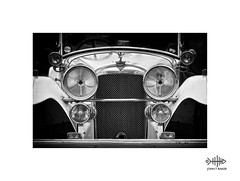 Main Beam (silver/halide) Tags: mono monochrome blackandwhite bw johnbaker vintage vintagevehicle alvis headlights chrome yesteryear penzance penzancepromenade