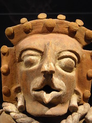 """Head (Detail) - """"Great urn with lid"""" - ceramic 600-900 AD - Maya culture - from Guatemala (El Quiché) - """"The World that wasn't there / Pre-Columbian art in the Ligabue Collections"""" - Temporary Exhibition, up October 30, 2017 - Naples, Archaeological Museu (Carlo Raso) Tags: head urnwithlid ceramic maya guatemala precolumbianart ligabue naples archaeologicalmuseum"""