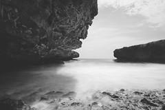 Boka Kalki (KD Robinson) Tags: view curacao impressive travelphotography water perspective a7ii longexposure monochrome travel willemstad sky beautiful white blackandwhite black detail curaçao cw