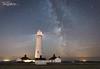 Nash Point Lighthouse (Tim Graham Photography) Tags: d610 southerdown 1424 nashpoint wales summer nikon milky way star sky lighthouse stars nikkor astrometrydotnet:id=nova2207117 astrometrydotnet:status=failed