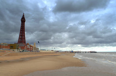 Stormy Blackpool (Tony Worrall) Tags: uk update place location visit attraction open england english british unitedkingdom stream tour county country capture outside outdoors caught photo shoot shot picture captured blackpool resort north northwest town area northern lancs lancashire fylde fyldecoast coastal tony worrall welovethenorth season sea seaside seashore seasidetown seafront beach tower blackpooltower grim itsgrimupnorth weather clouds sky
