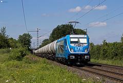 "187 930 ""LTE"" mit Kesselzug - 18.07.2017 - Ahlten (D) (Frederik L.) Tags: db bahn zug lok lokomotive baureihe 187 bombardier traxx ahlten bahnhof privatbahn lte neubau"