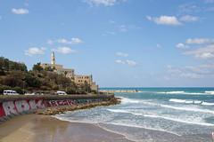 Tel Aviv 04 (mpetr1960) Tags: telaviv israel yafo water wave beach sky clouds city nikon d810
