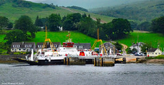 Scotland West Highlands Argyll car ferry Loch Dunvegan at the Colintraive crossing to the island of Bute 21 June 2017 by Anne MacKay (Anne MacKay images of interest & wonder) Tags: scotland west highlands argyll caledonian macbrayne car ferry loch dunvegan village colintraive pier slipway sea landscape island bute xs1 21 june 2017 picture by anne mackay