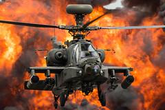 Apache Demo Team (Nick Collins Photography, Thanks for 2.75m views) Tags: raf fairford riat military aircraft airshow aviation canon 7dmk2 500mm wah64d apache army helicopter gunship flames explosion wattisham