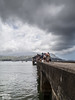 Hanalei Pier (Patrick.Burns) Tags: fishing hanaleipier hanaleibay kauai hawaii people ocean island water clouds