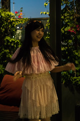 Layered Dress (asiantango) Tags: animeexpo2017 california celebrationevent convention downtowncounty fashion item losangelescounty night nightphotography object out outdoor outdoors outside outsides residenceinn residenceinnpool siennapinkusiennapinku time
