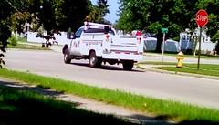 Wisconsin Public Service repair truck - HTT (Maenette1) Tags: wisconsinpublicservice repair truck white street neighborhood summer menominee uppermichigan happytruckthursday flicker365