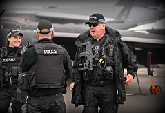 Dress code (PentlandPirate of the North) Tags: gloucestershire police armed riat fairford airshow hecklerkochmp7 taserx26