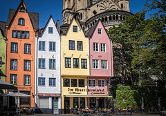 Colorful facades in Cologne, Germany (mary_hulett) Tags: cologne rivercruise color travel colorful buildings rhineriver streetscene europe viking 2017