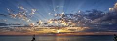 500px Photo ID: 219947491 (Colin Marr) Tags: sunset water noperson evening landscape sun sky dusk sea ocean light fairweather seascape weather reflection lake