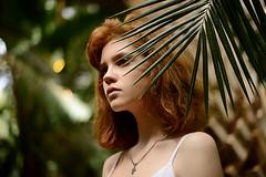 DSC_2441 (primeridian) Tags: person outdoors girl woman summer art sun flower plant garden park face hair eyes lips