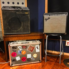 Bags are Packed (Pennan_Brae) Tags: guitaramp guitaramps amplifiers amps musicphotography recordingstudio recording musicstudio magnatone fender amplifier amp