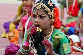 Kuchipudi Guinness Dance -Hyderabad 2014 (2)