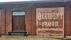 Great Northern Railway Passenger and Freight Depot- Aberdeen SD (5) (kevystew) Tags: southdakota browncounty aberdeen us12 us281 advertisement ad sign