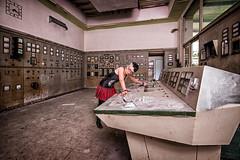 Usine de la Forêt-Noire (Batram) Tags: usine de la forêtnoire paper factory papierfabrik urbex urban exploration lost place hdr control center model