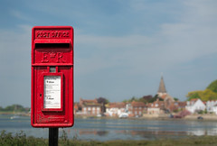 Post box (tom ballard2009) Tags: bosham water red post box royal mail landscape sussex waterfront