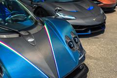 Pagani Zonda Tricolore... and a Lamborghini Centenario (Axion23) Tags: pagani zonda tricolore lamborghini centenario danami lagunabeach southerncalifornia