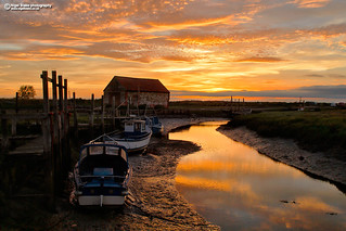 Sunset at The Coal Barn at Thornham Staithe