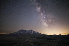 Event Horizon (jeremyjonkman) Tags: mount mountain galaxy saint helens johnston ridge observatory milky way night astronomy stars snow crater eruption moon
