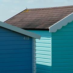 The light between (Spannarama) Tags: sunshine sunlight blueskies beach sea seaside coast westmersea merseaisland essex uk huts beachhuts square