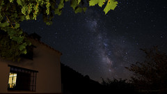 Summer nights under a vine... (ChusPS) Tags: nature night sky nikon tokina manfrotto milkyway andalucía andalusian granangular color star stars