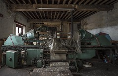 Green machine (Camera_Shy.) Tags: derelict textile urban exploration disused abandoned old decayed urbex nikon d810 uk industrial machinery left behind rusty abandonment cotton weaving industry