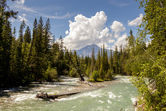 The River Runs Wild (Blue Trail Photography) Tags: maligne river jasper national park alberta canada rocky rockies mountain pyramid peak canyon gorge water sky cloud tree forest summer nature outdoor landscape