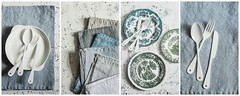 new props....my love) (sonja-ksu) Tags: foodphotography props vintage foodstyling dishes napkins plates rustic collage