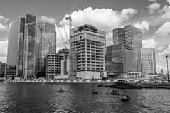 Canary Wharf (D_Alexander) Tags: uk england london eastlondon docklands canarywharf woodwharf blackandwhitephotography