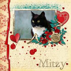 Mitzy (tina777) Tags: scrapbooking page serif craft artist digikit cat