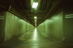 exploring tunnels (monodistortion) Tags: 35mm ricohff90 fujifilmprovia100f fujiprovia100f provia100f tunnel downtown losangeles california explored rollfilmweek rollfilmweek2017