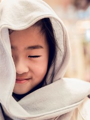 Happy Little Girl (❀Janey Song) Tags: girl portrait scarf face happy