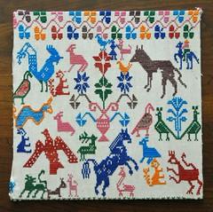Mexican Embroidery Textiles (Teyacapan) Tags: textiles mexican puebla bordados embroidery sampler animals fabrics