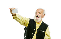 mobile phone selfie picture smartphone tochscreen senior... (Photo: ideacanal on Flickr)