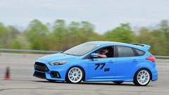 Blur of sky-blue/white (R.A. Killmer) Tags: rs ford match tour scca focus autocross auto cone horsepower race racer drive driver blue