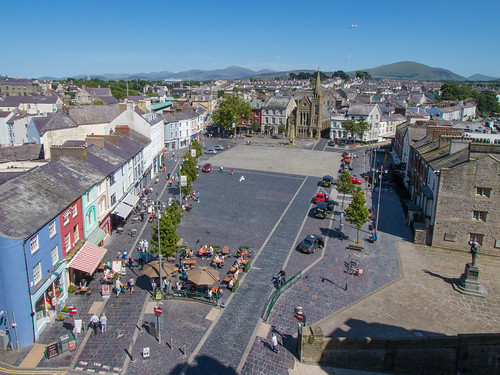 Caernarfon town square.