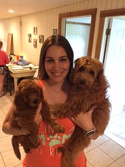 Ruby Red and Spanky's Ditto with her new sister Ruby