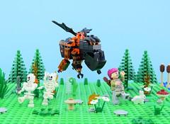 LEGO Lava hound🔥 (Alex THELEGOFAN) Tags: lego legography minifigure minifigures minifig minifigurine minifigs minifigurines monster lava hound clash of clans royale green archer archery girl skeleton tree rock flowers fire