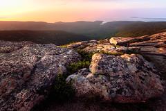 Dawn at Cadillac Mountain. Acadia National Park. (Vladimir Grablev) Tags: glow usa landscape travel foreground nationalpark mountains sunrise formation acadia ocean east rocks barharbor maine unitedstates us