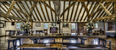 Elstow Moot Hall (panorama) (Darwinsgift) Tags: elstow moot hall bedfordshire interior hdr photomatix nikkor 19mm f4 pc e nikon d810 john bunyan pilgrims progress